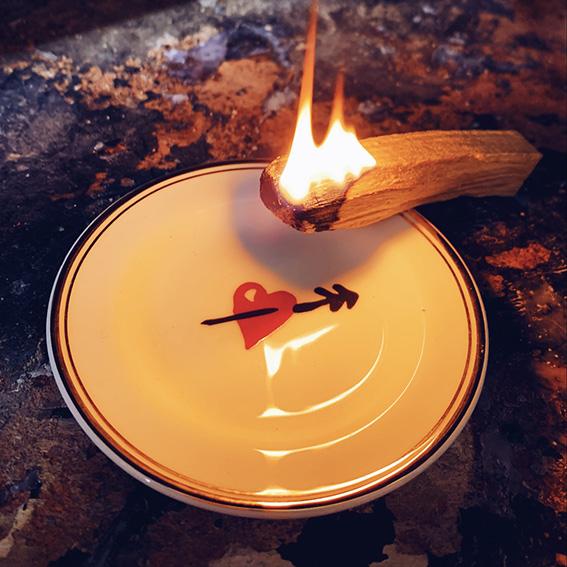 palo santo fuoco piattino